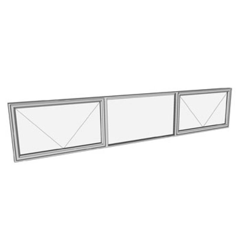 600 x 3010 3 light awning window
