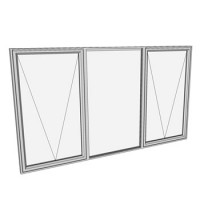 1200 x 2110 3 light awning window
