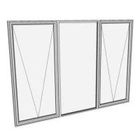 1500 x 2410 3 light awning window
