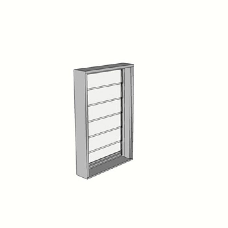 914 x 600 1 Light louvre window