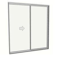 2400 x 2110 2 panel sliding door
