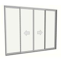 2400 x 2988 4 Panel sliding door