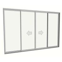 2400 x 3588 4 panel sliding door