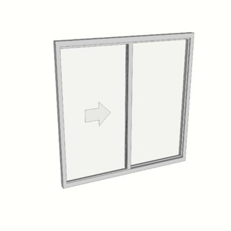 1200 x 1210 2 light sliding window safety
