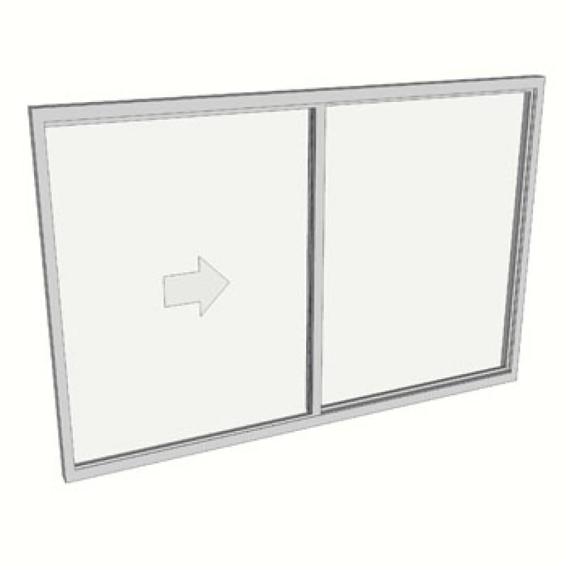1200 x 1810 2 light sliding window safety