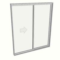 2100 x 1810 2 panel sliding door