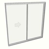 2100 x 2110 2 panel sliding door