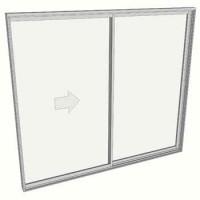 2100 x 2410 2 panel sliding door